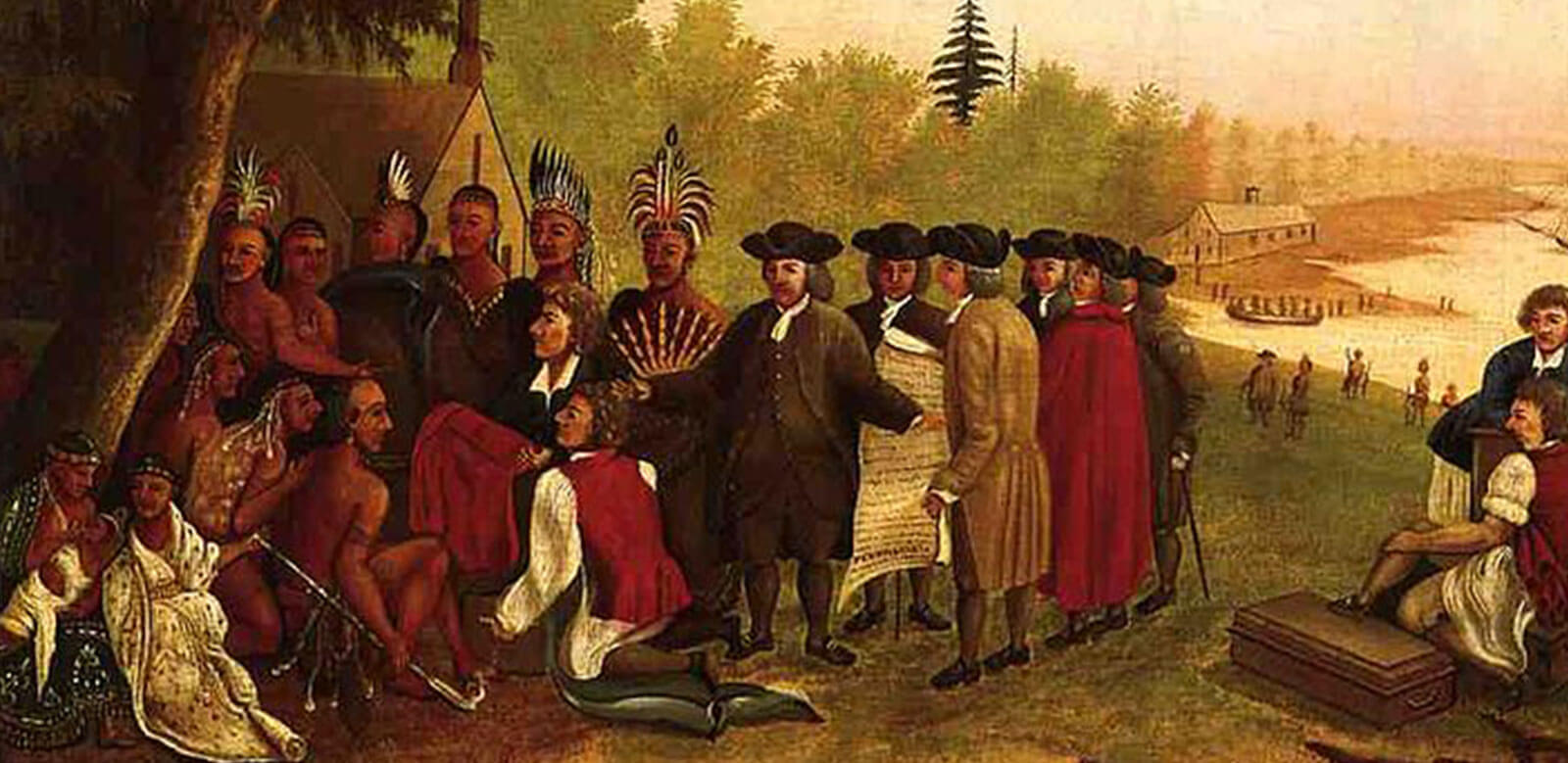 Foulkeways supports Quaker Values - Painting by Edward Hicks, Penn's Treaty with the Indians