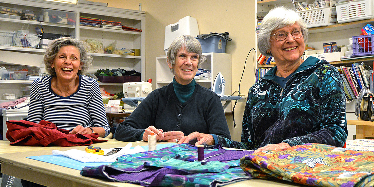 Residents in the Craft Room