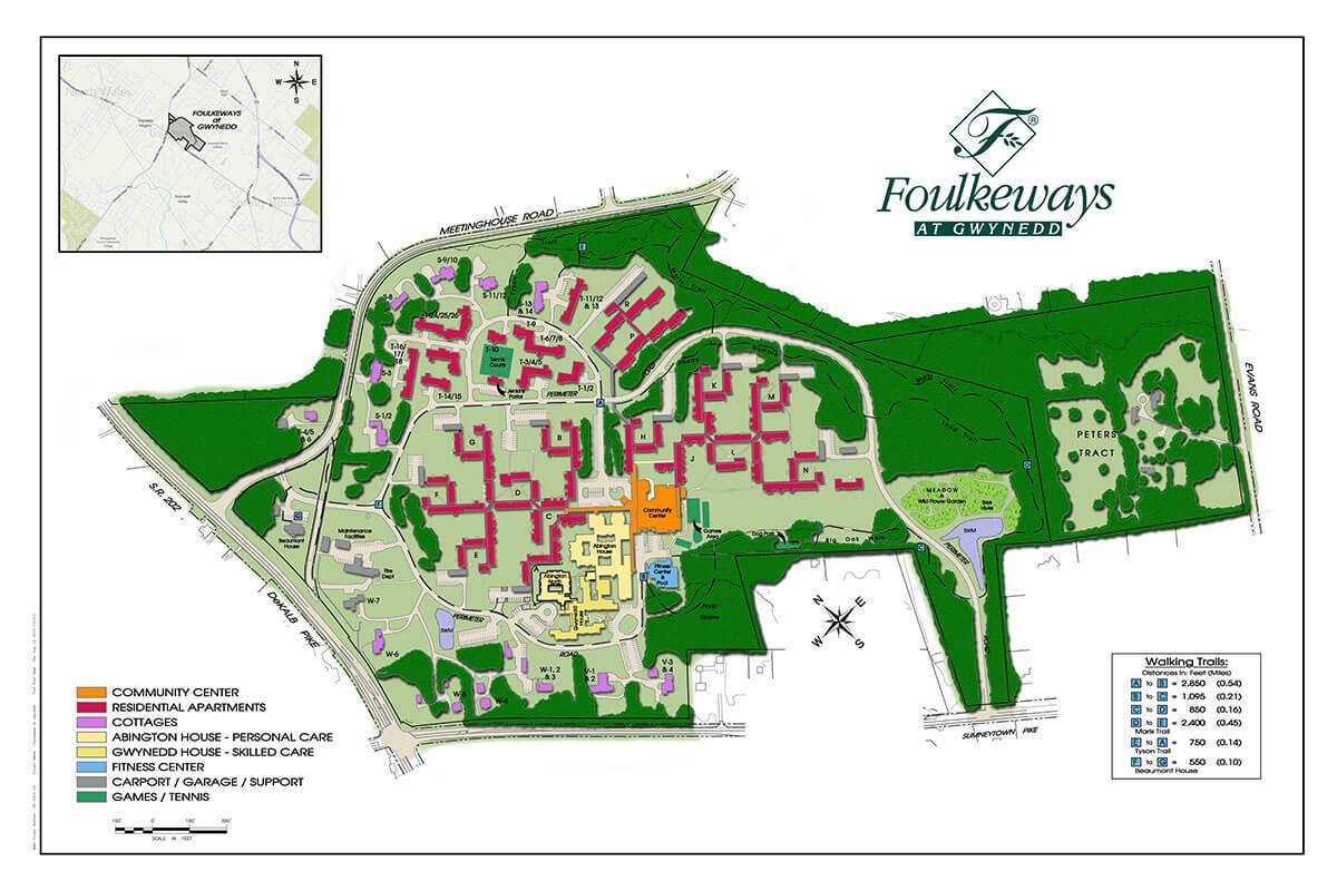 foulkeways-residences-community-map