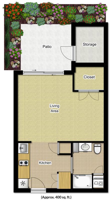 Studio Apartment for Seniors | Foulkeways at Gwynedd