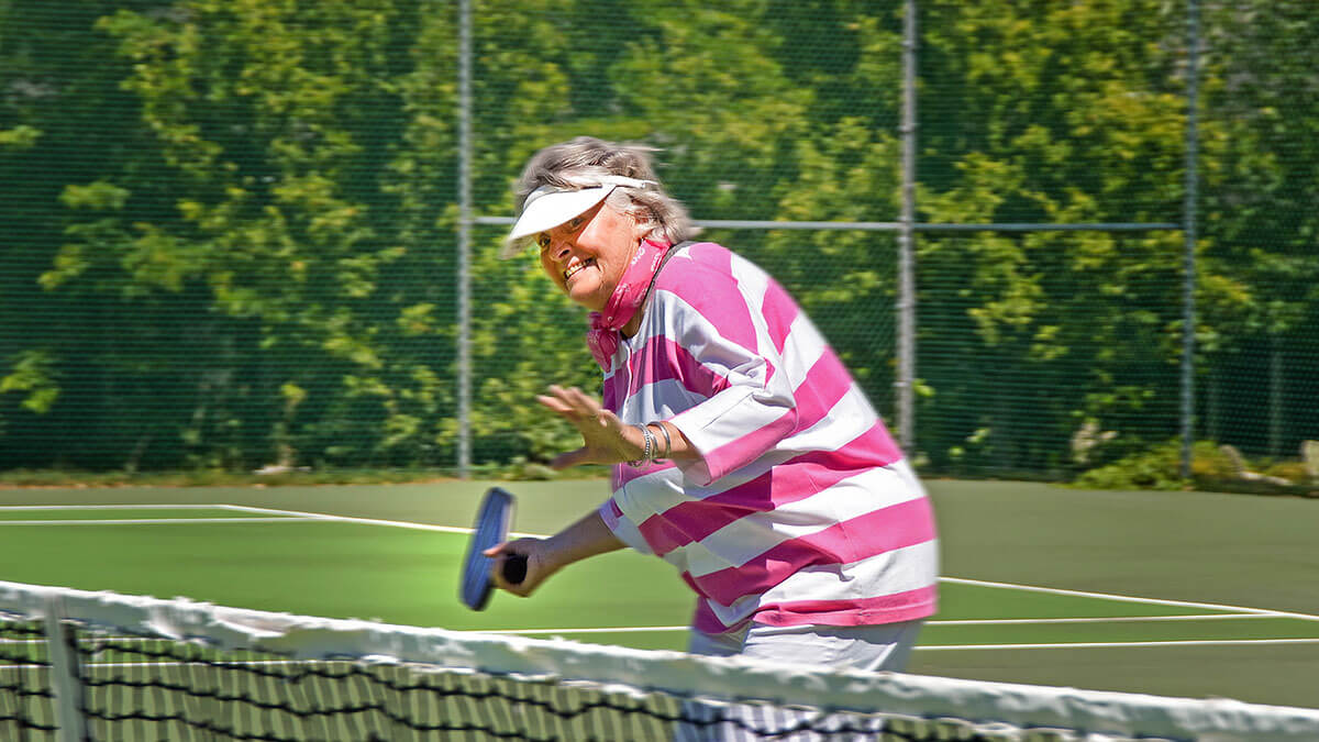 Playing Pickleball at Foulkeways