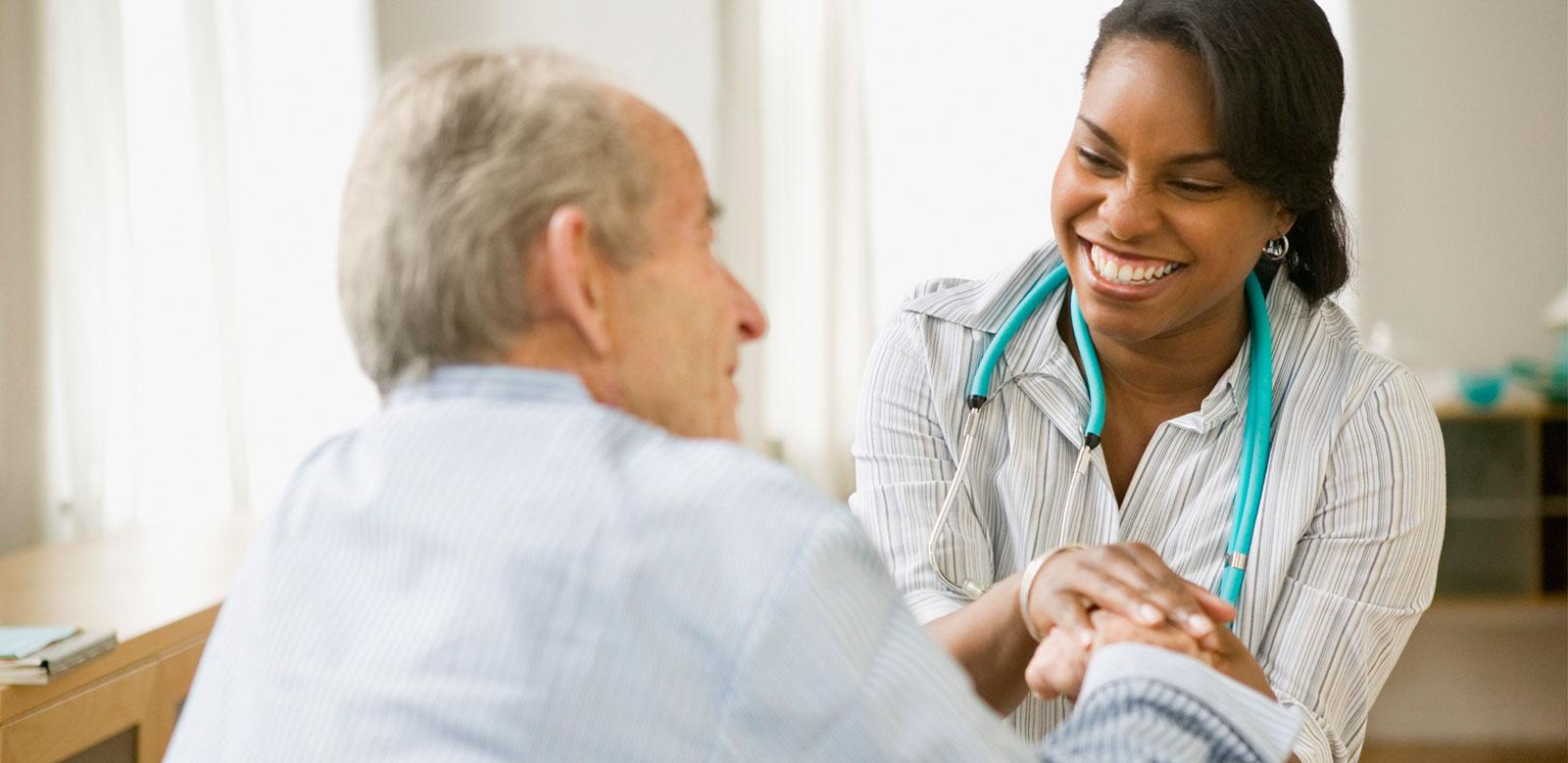 Skilled Nursing Care - Resident & nurse